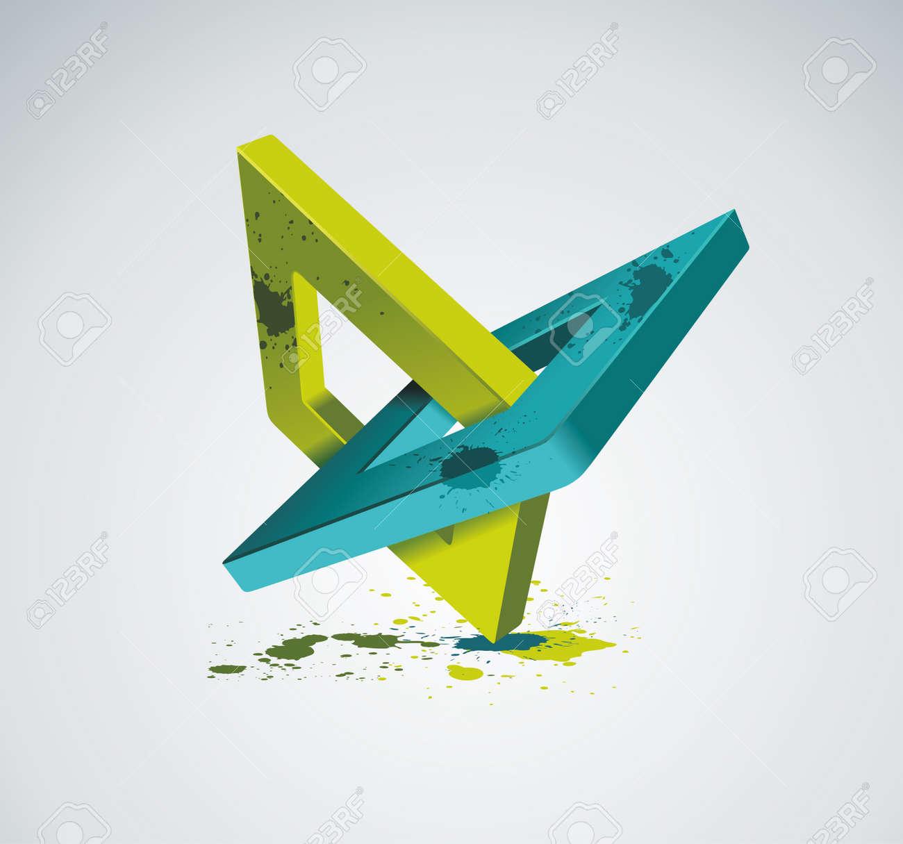 Illustration with orthogonal rhomb symbols Unity concept Vector Stock Vector - 19430478