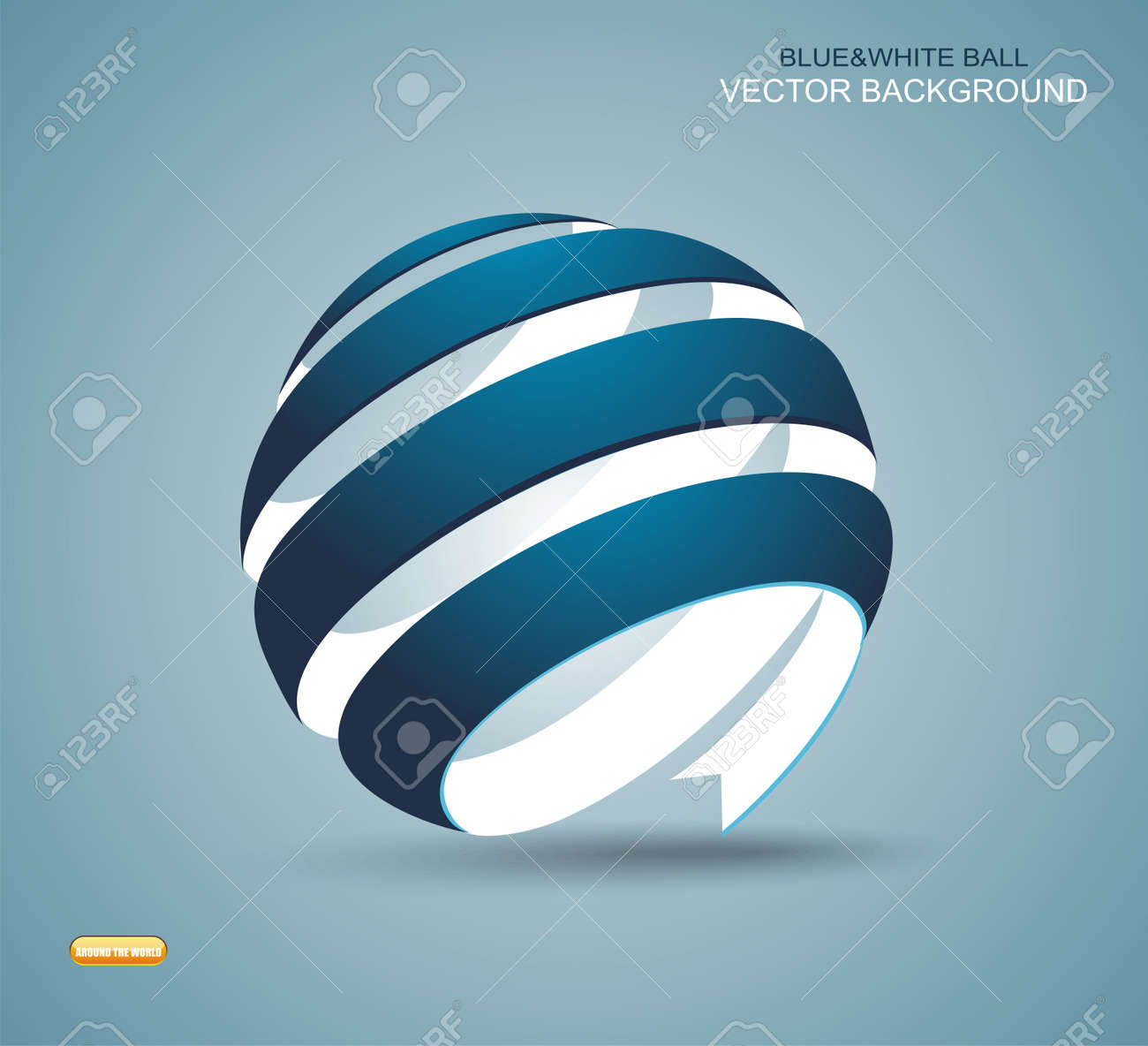 Abstract sphere made from colorful stripes Stock Vector - 20915881