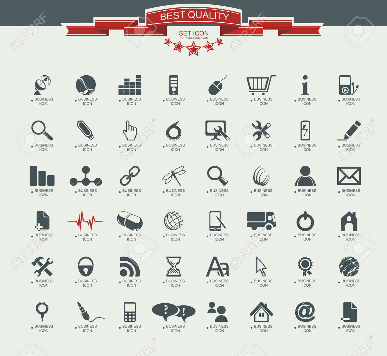 Quality icon Set (Service, Medical, Media, Mail, Mobile, ,Web , Camping icons, Butterfly) Stock Vector - 20915884