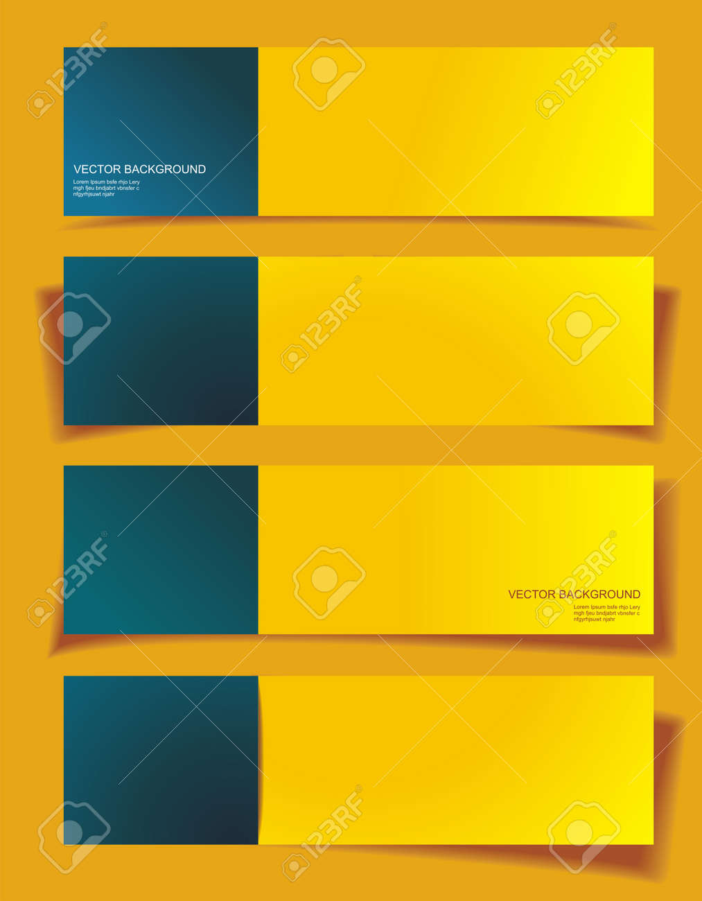 Set of Banners with Different Shadows Stock Vector - 21234134