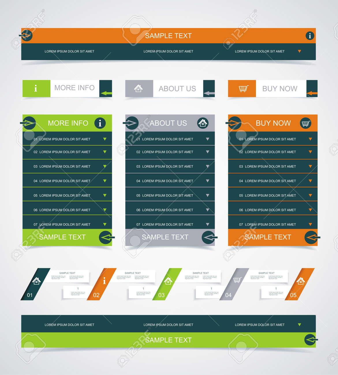 Web site design element. Stock Vector - 21995472