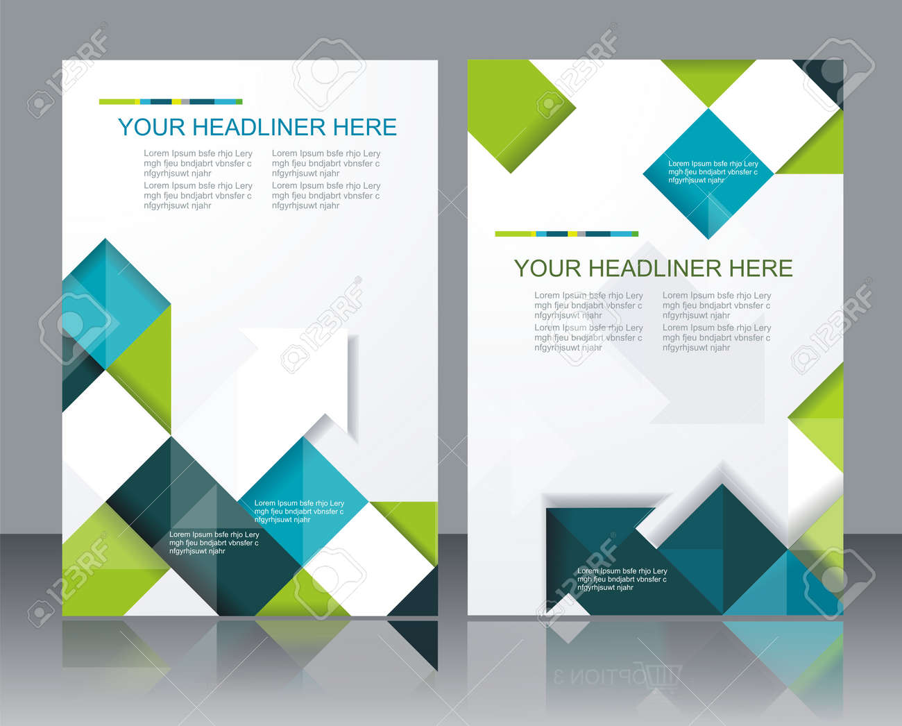 Vector Brochure Template Design With Cubes And Arrows Elements ...