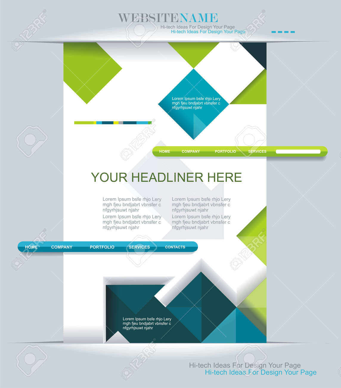 Modern Web Design Can Be Used For Book Cover Graphics Lay
