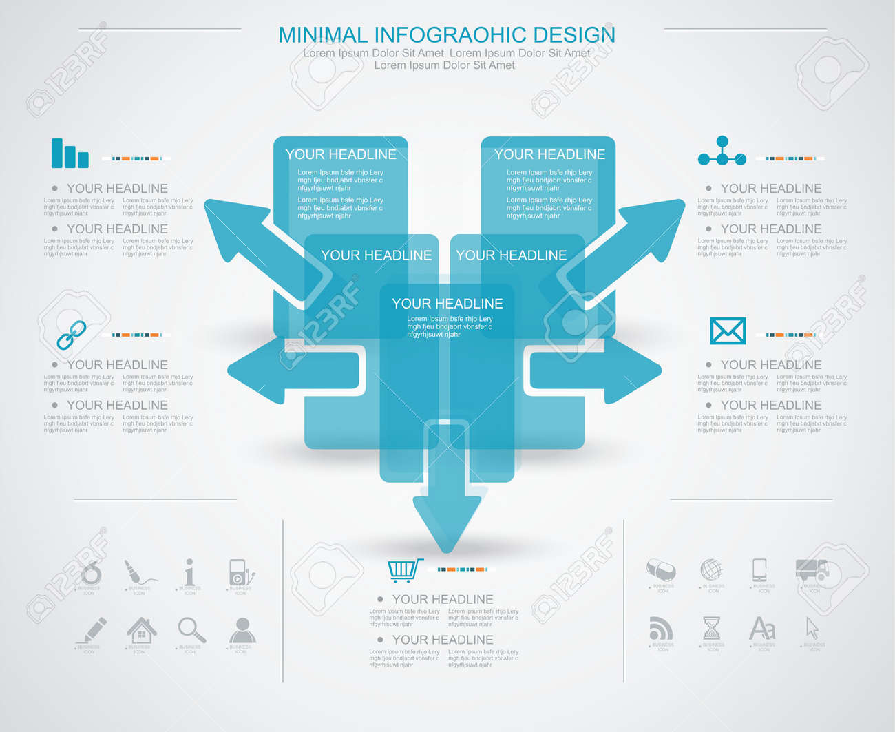 Minimal Infographic Template. Business Management, Strategy And ...