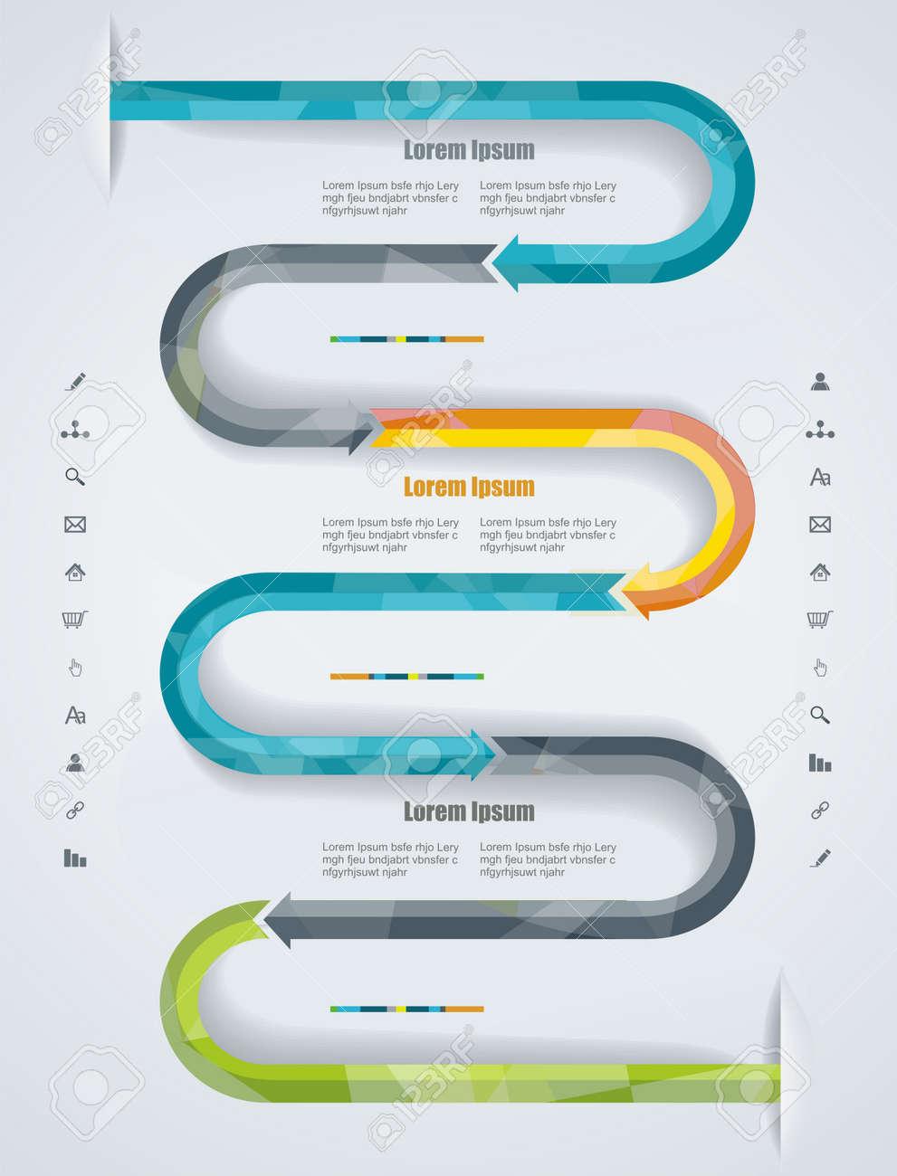 Web Page Design. Kann Für Workflow-Layout Verwendet Werden; Diagramm ...