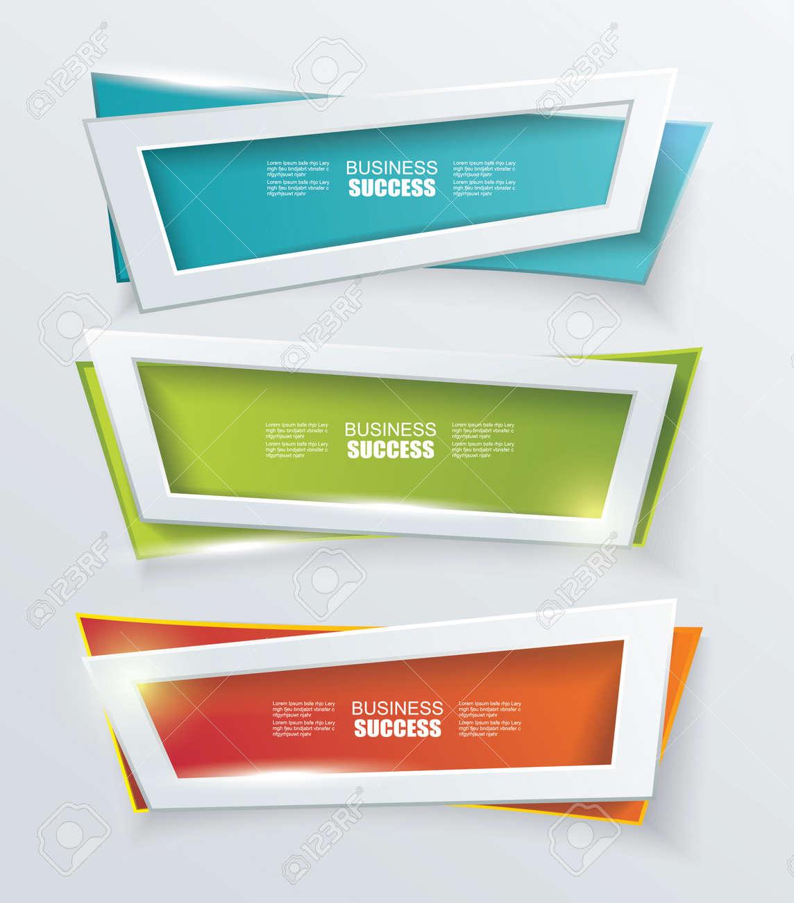 Vector Banners Modernos O Elemento De Diseño De Marcos. Placas De ...