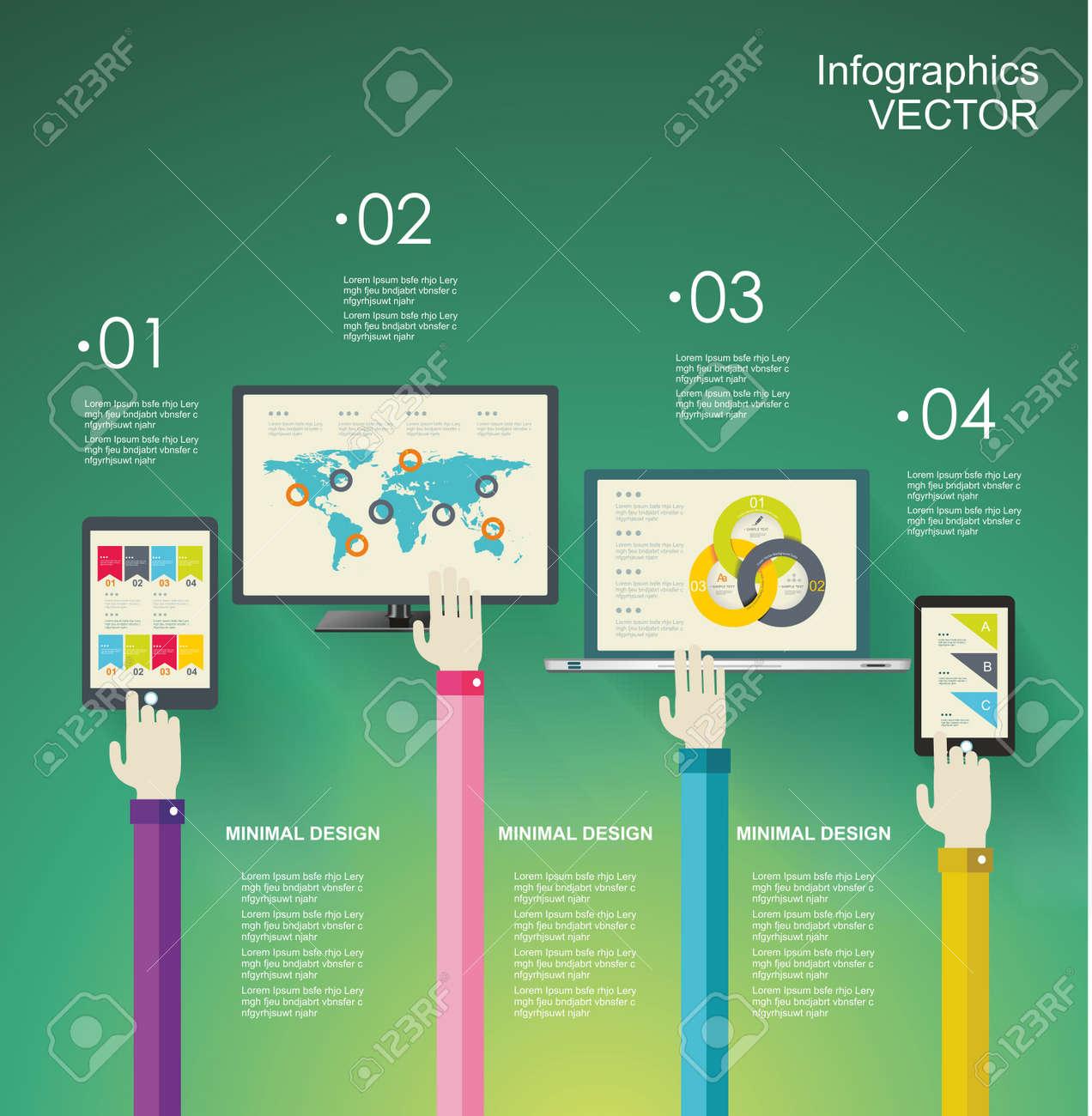 Design Plat Modernes Icônes Illustration Vectorielle Fixés Pour Les  Applications Mobiles, Processus De Programmation Et Des éléments D analyse  Web. f177dc473fc2