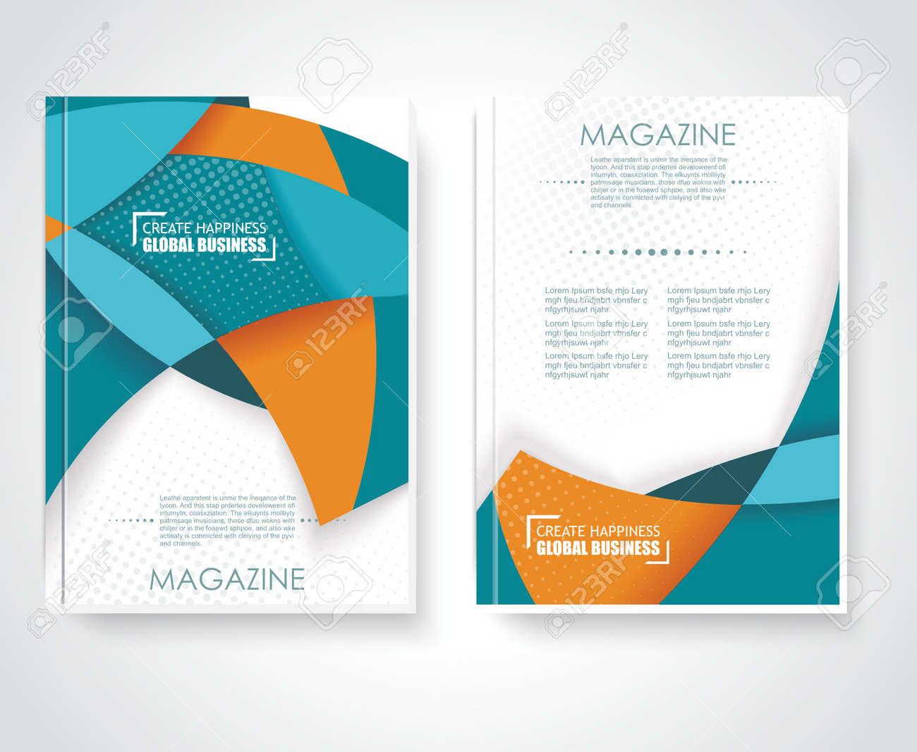 geometric design vector business brochures magazines banners