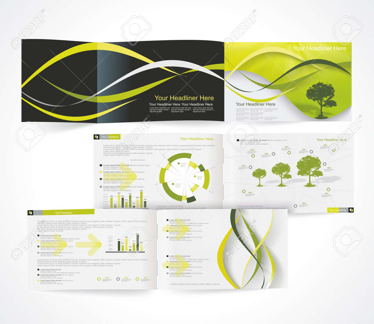 catalogo blank formato orizzontale brochure aziendale o copertina