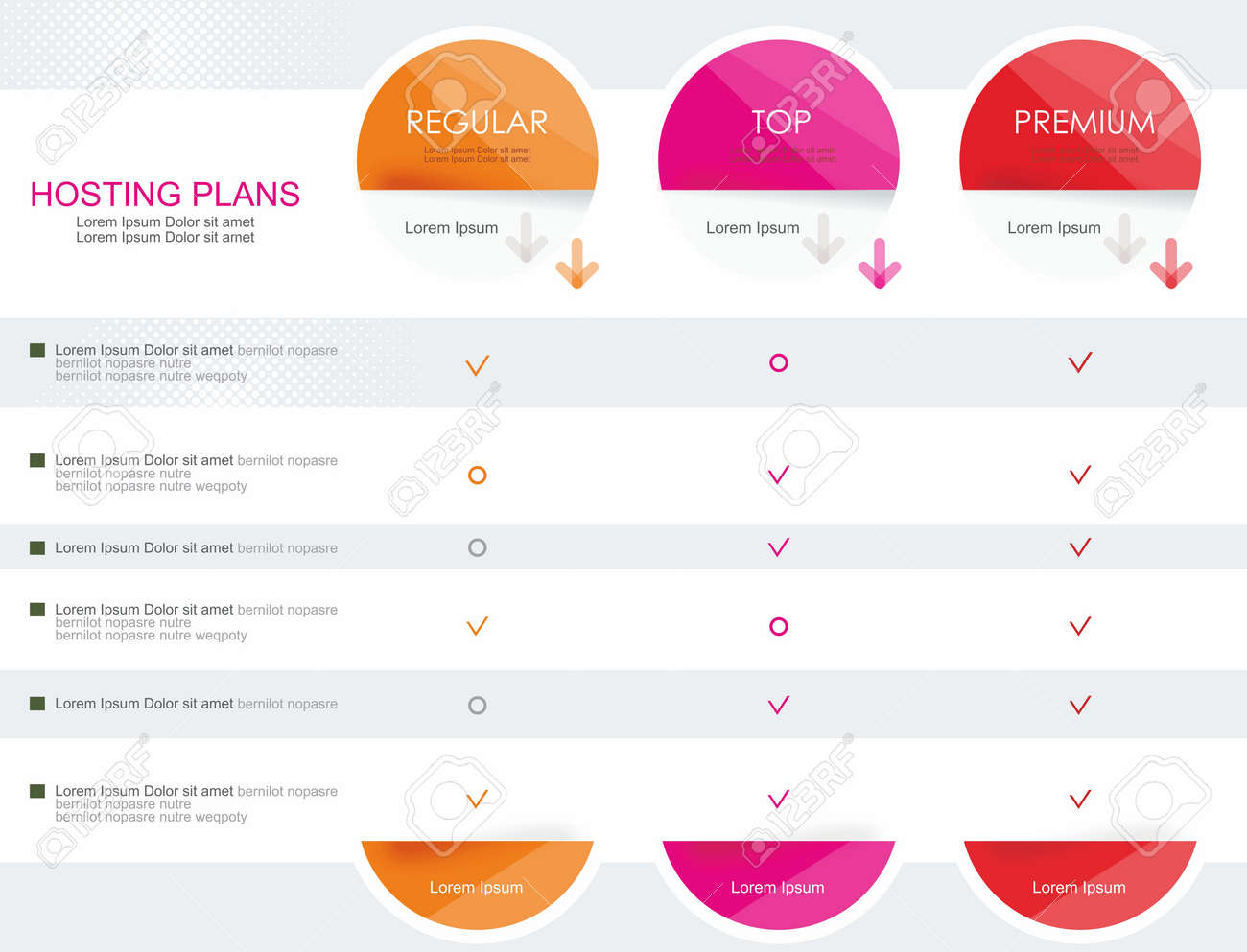 Price list widget with 3 payment plans for online services, pricing table for websites and applications. - 40677692