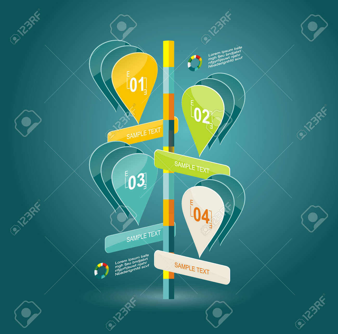 glass banners template can be used for bubble speech diagram