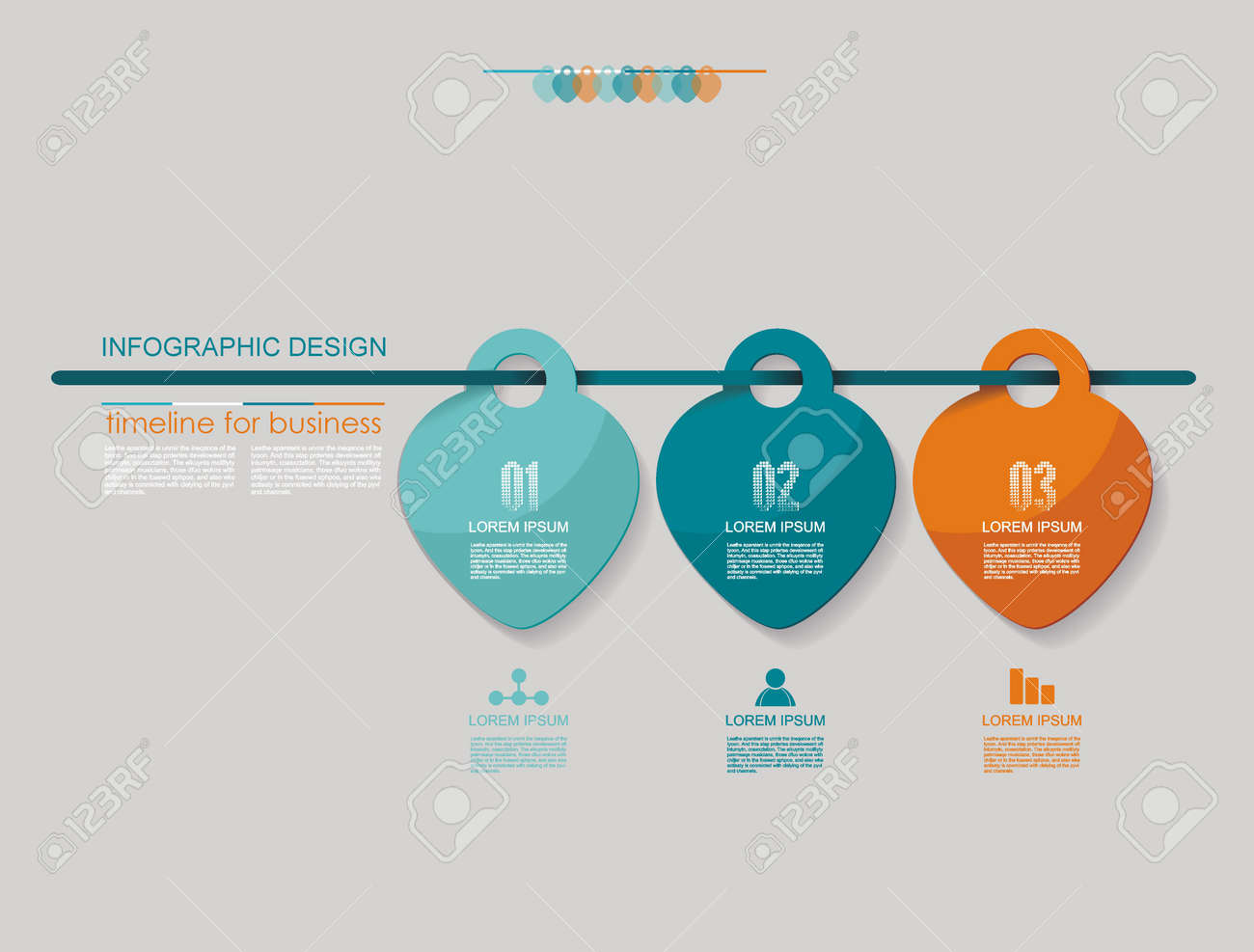 vector infographic design options template timeline graph