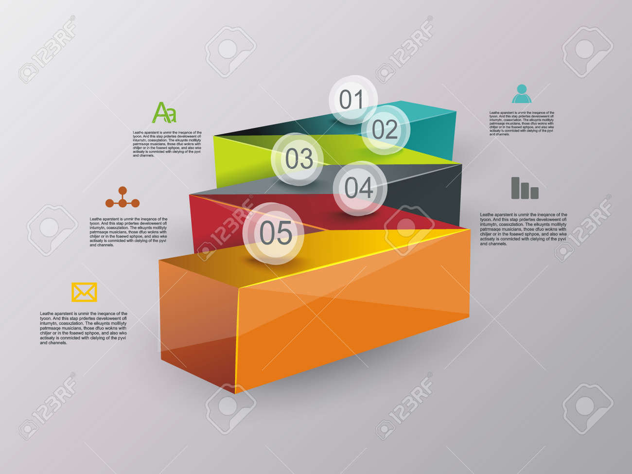 Business stair conceptual design. Can be used for step options, diagram, web design, infographic template. - 149377941