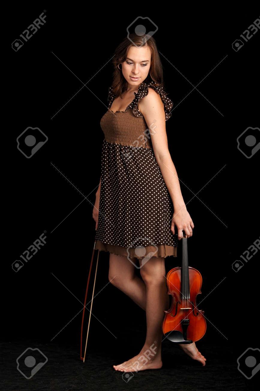 violinist isolated on black background Stock Photo - 8815887