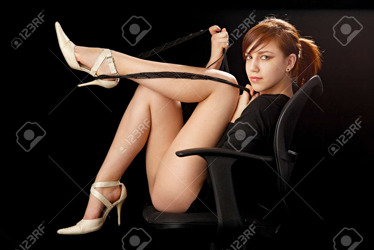 beauty woman sitting over chair Stock Photo - 8828124