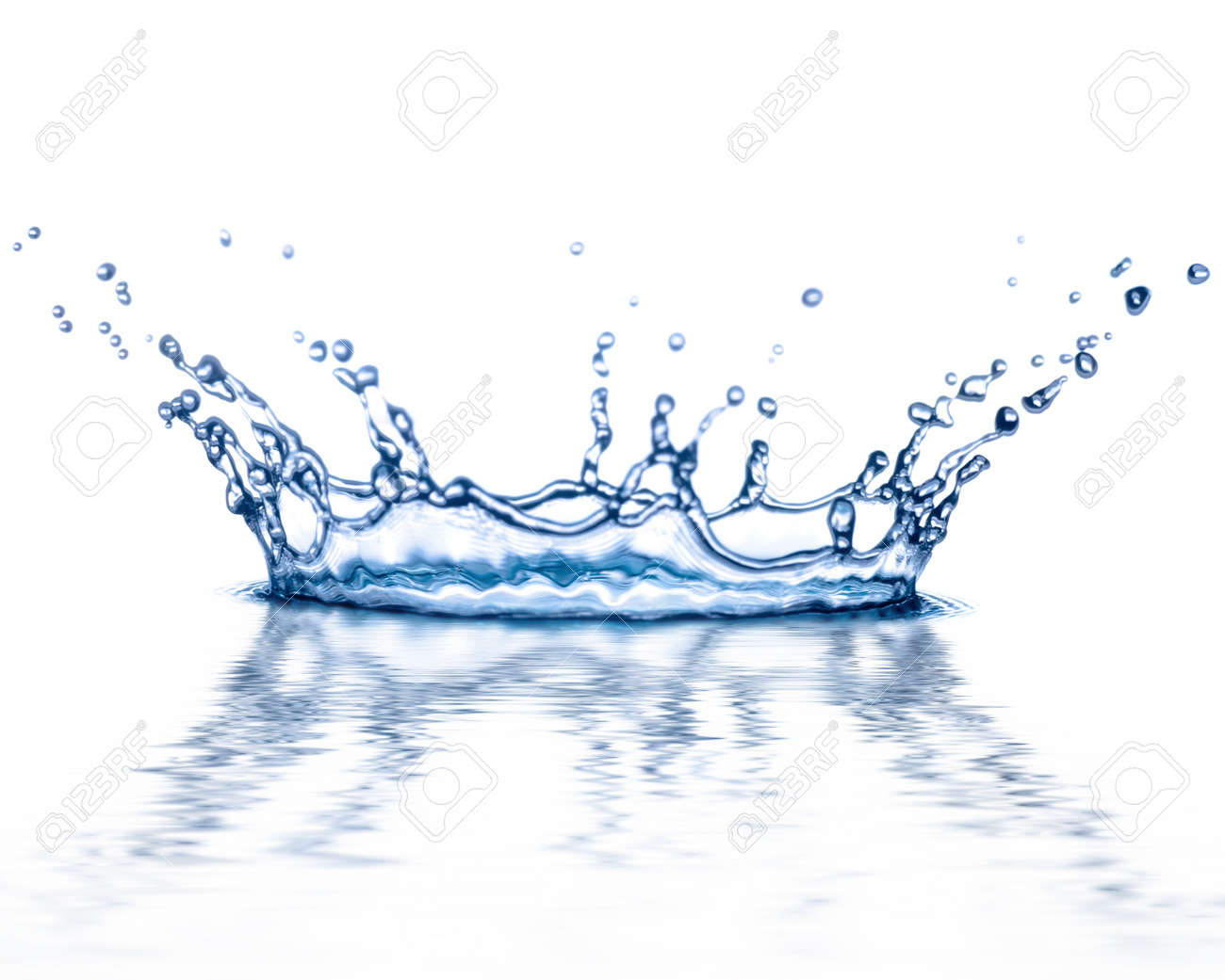 transparent splash of blue water on white background Stock Photo - 8843413