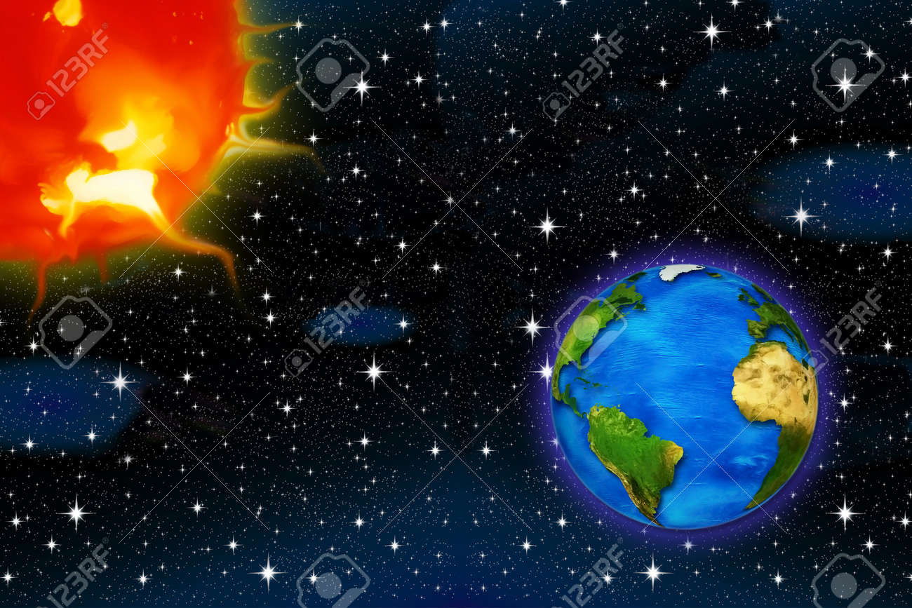 Worksheet The Sun And The Stars the sun and stars laptuoso planet earth on a background of for air space