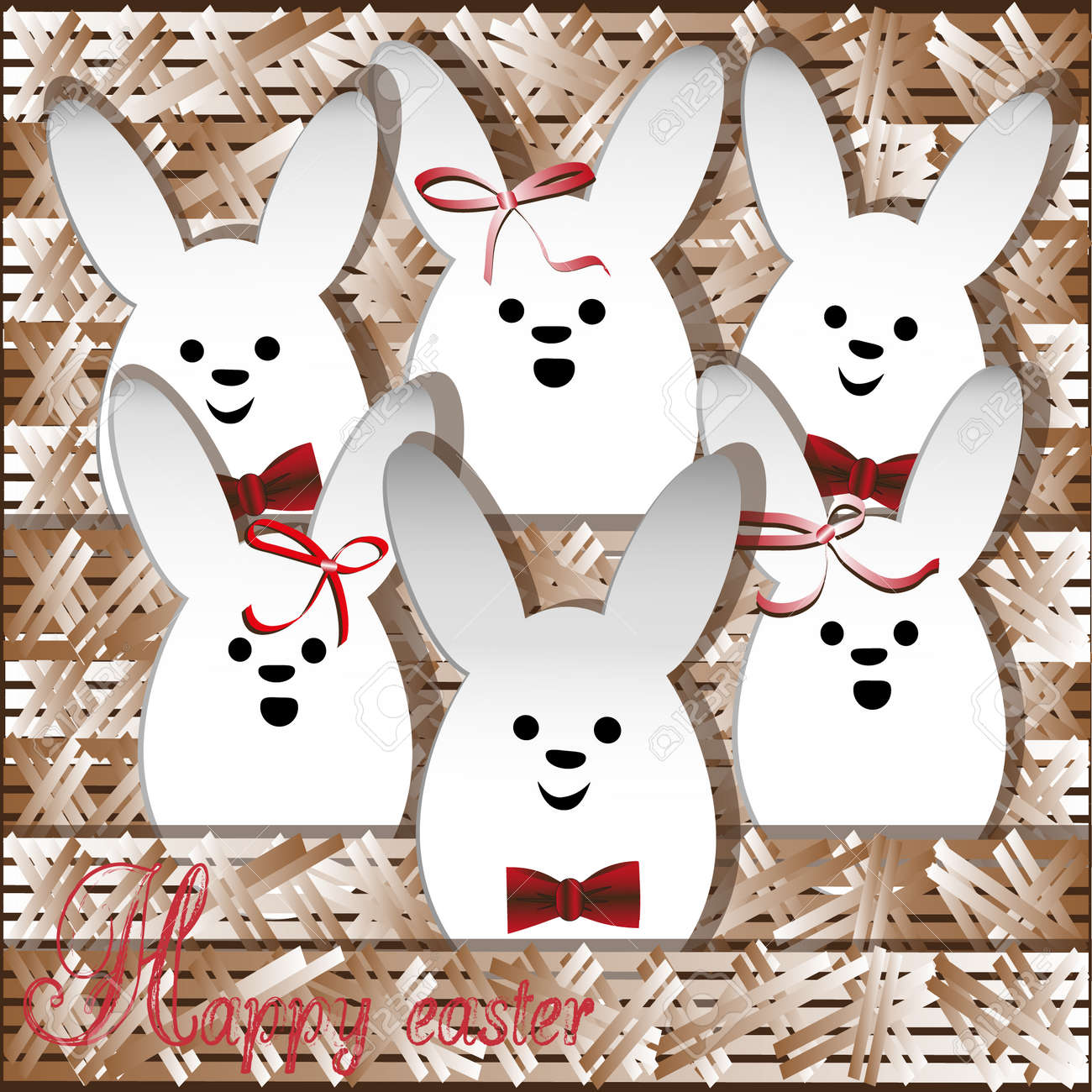 Chorus Christmas White Rabbit Holiday Religion Drawing Greeting ...