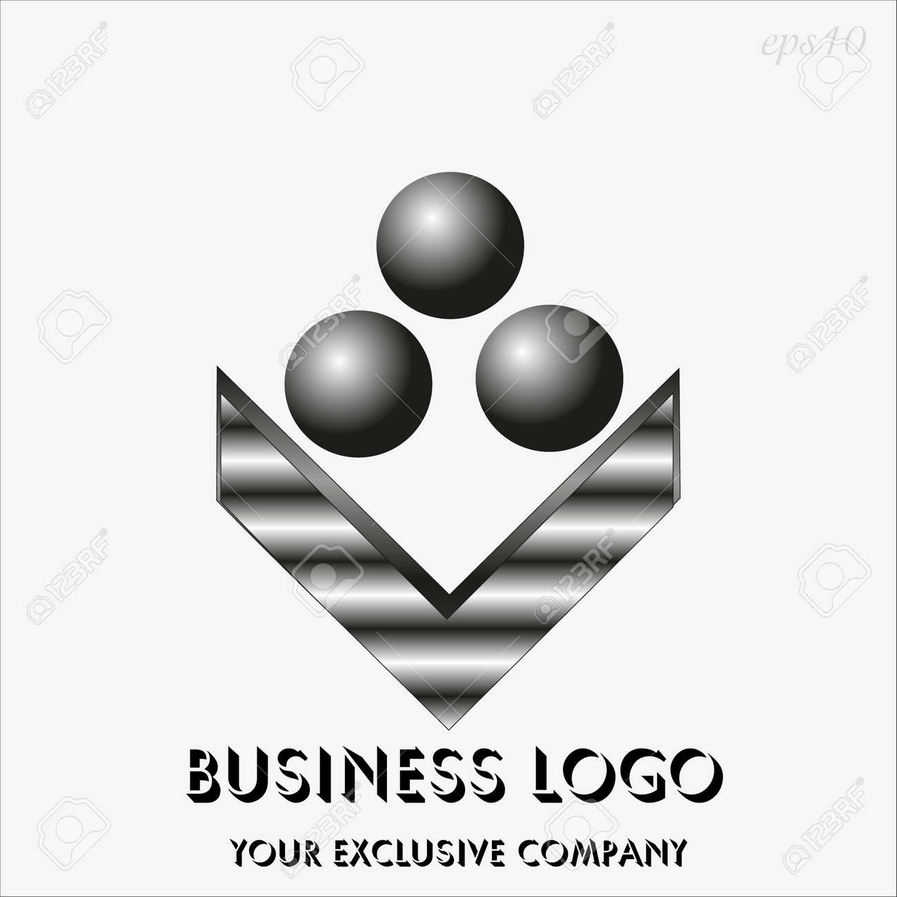 Logo three black sphere drawing business emblem style geometry logo three black sphere drawing business emblem style geometry metal painted image of a flower from biocorpaavc