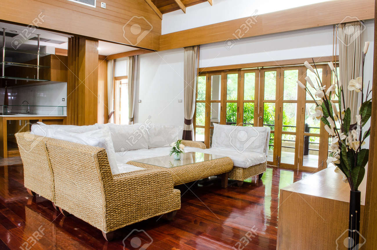 Tropical Modern Living Room Stock Photo Picture And Royalty Free