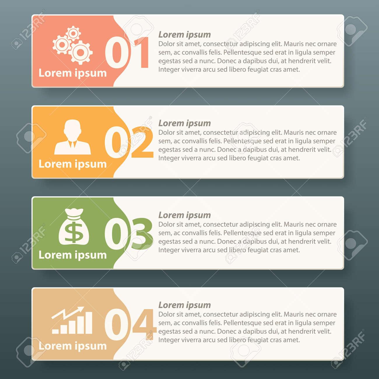 Diseño De La Plantilla Etiqueta Infografía Para Las Empresas Hacer ...