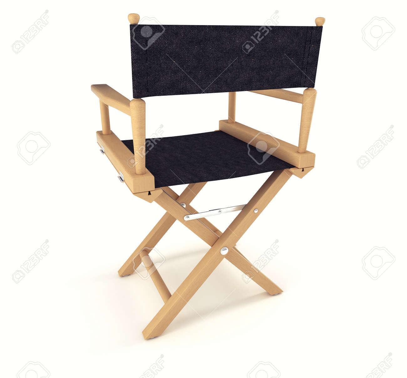 Flim industry: back view of directors chair over white background Stock Photo - 9822984