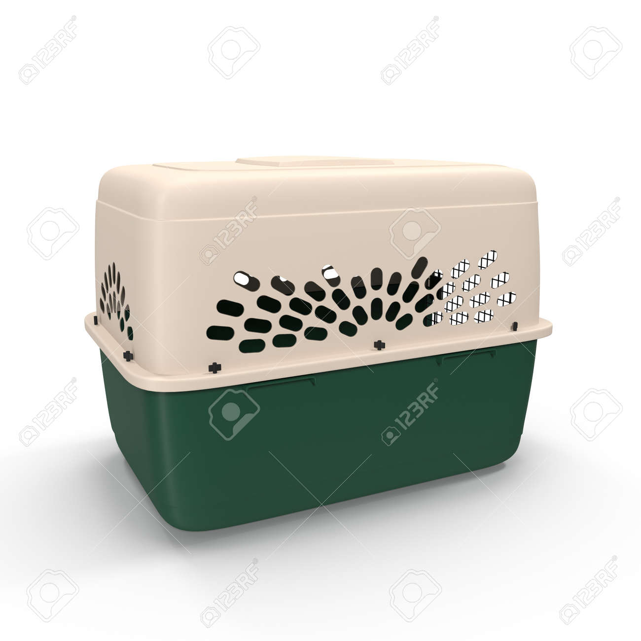 3d model of pet carrier isolated on a white background