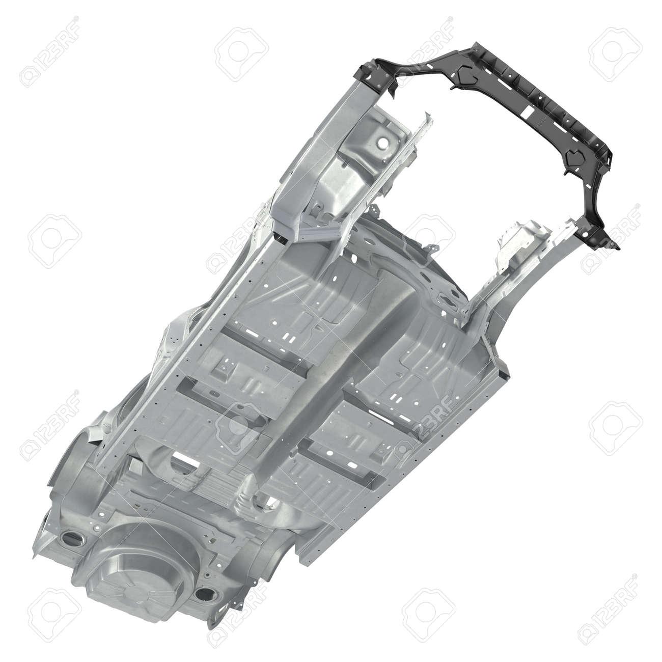 Ansicht Von Unten Auto-Rahmen Ohne Chassis Auf Weißem Hintergrund ...