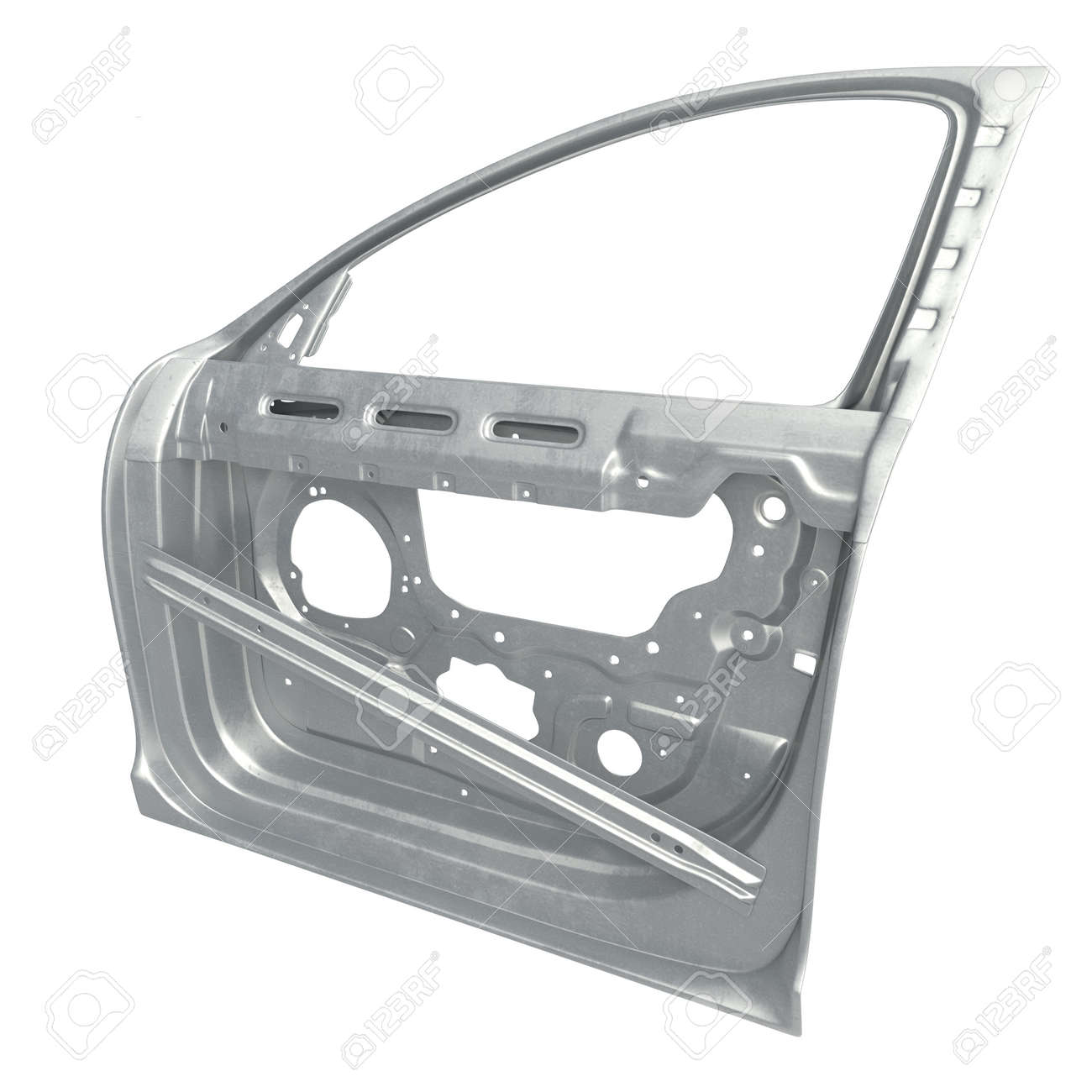 Car Door Frame On White Background. 3D Illustration Stock Photo ...