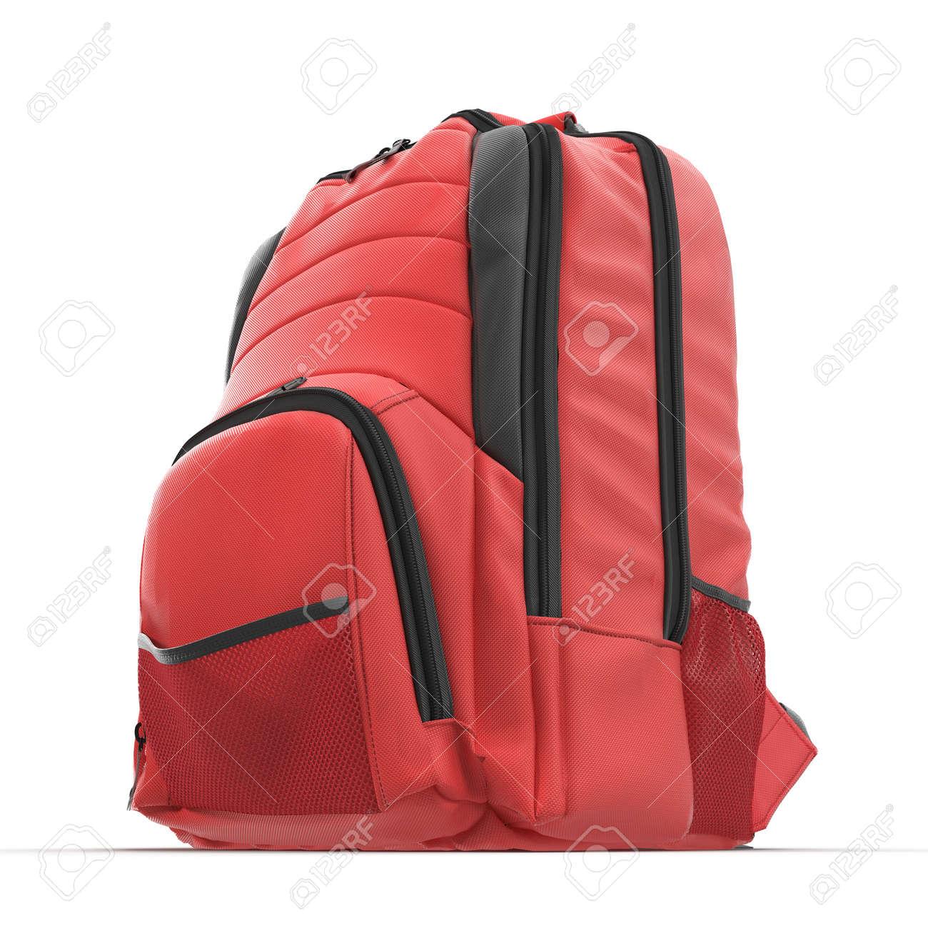 Mochila Escuela La BlancoPrimer En 3d Aislada Roja DeporteIlustración De Del Viaje 34AqR5jLc