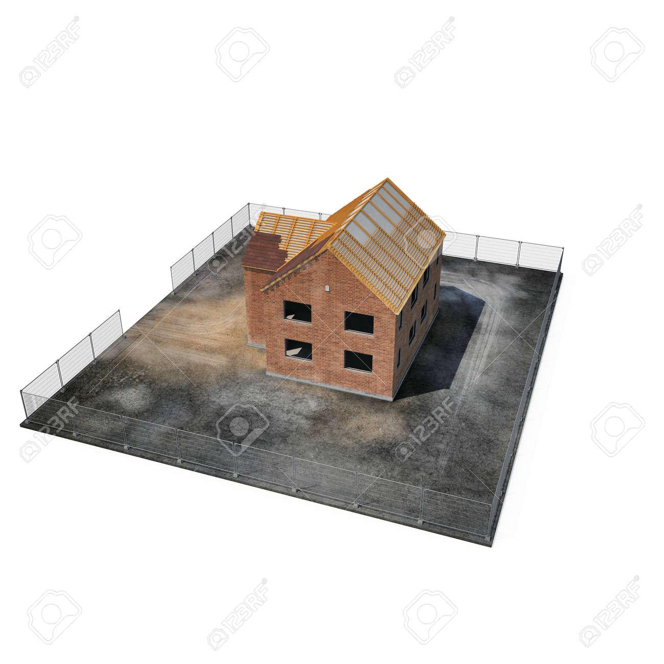 Immagini Stock Costruzione Di Una Casa Privata Su Priorita Bassa