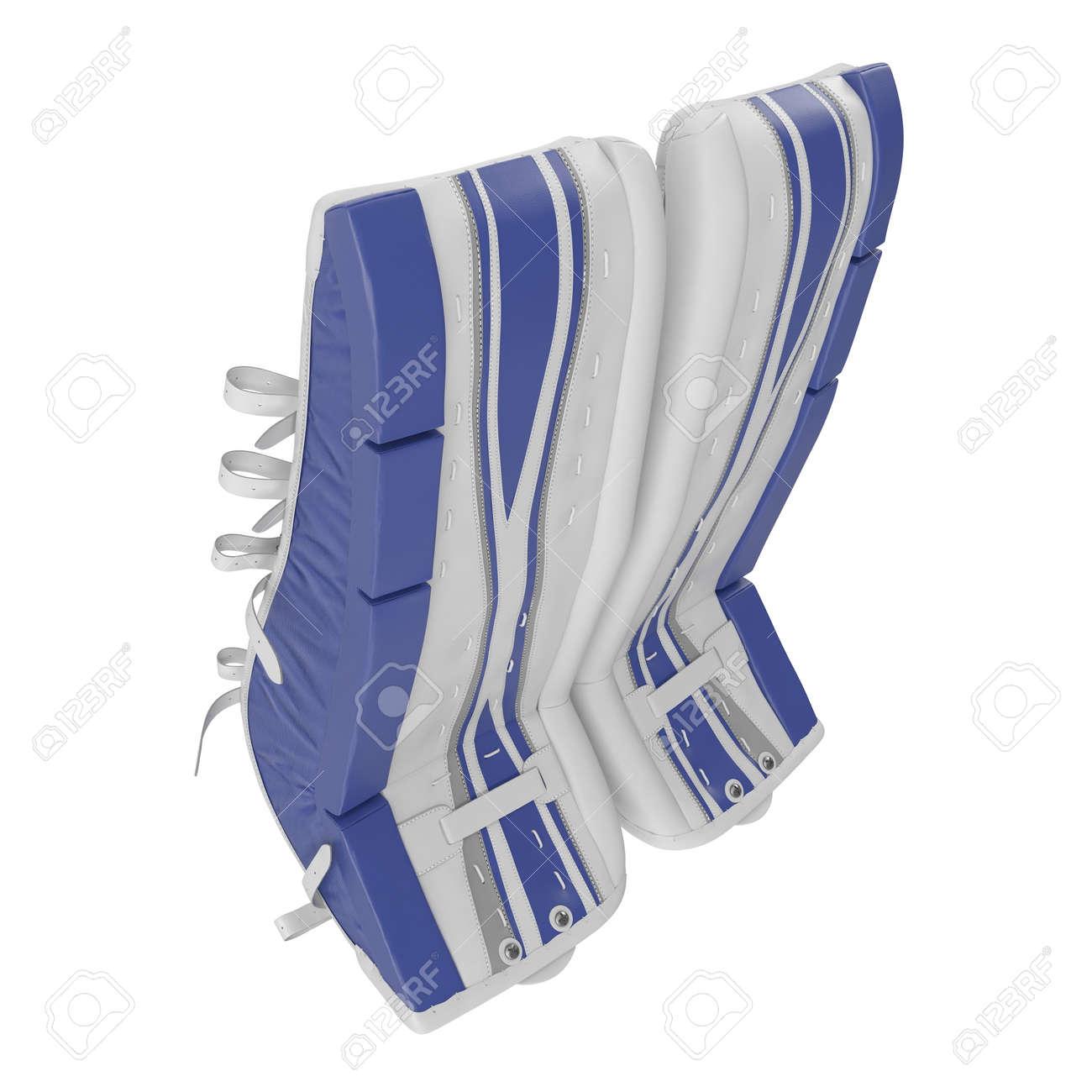 Hockey Goalie Leg Pads On White 3d Illustration Stock Photo