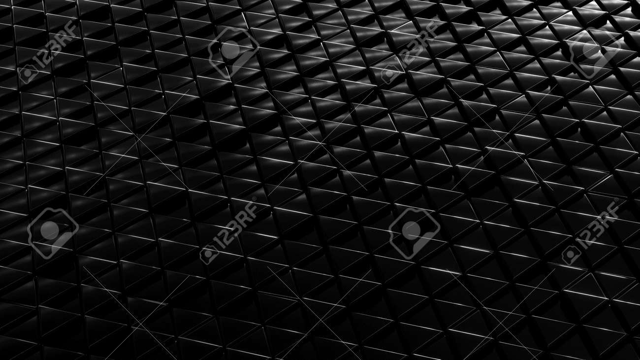 Metallic dark background isometry. Wallpaper precious materials. The surface of the triangles. Illustration 3d visualization - 132224956