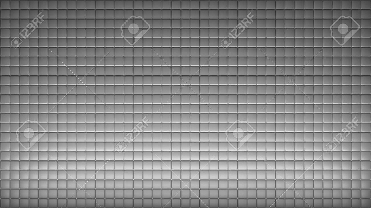 Geometric abstract wallpaper of grey color. 3d render background of squares - 132225010