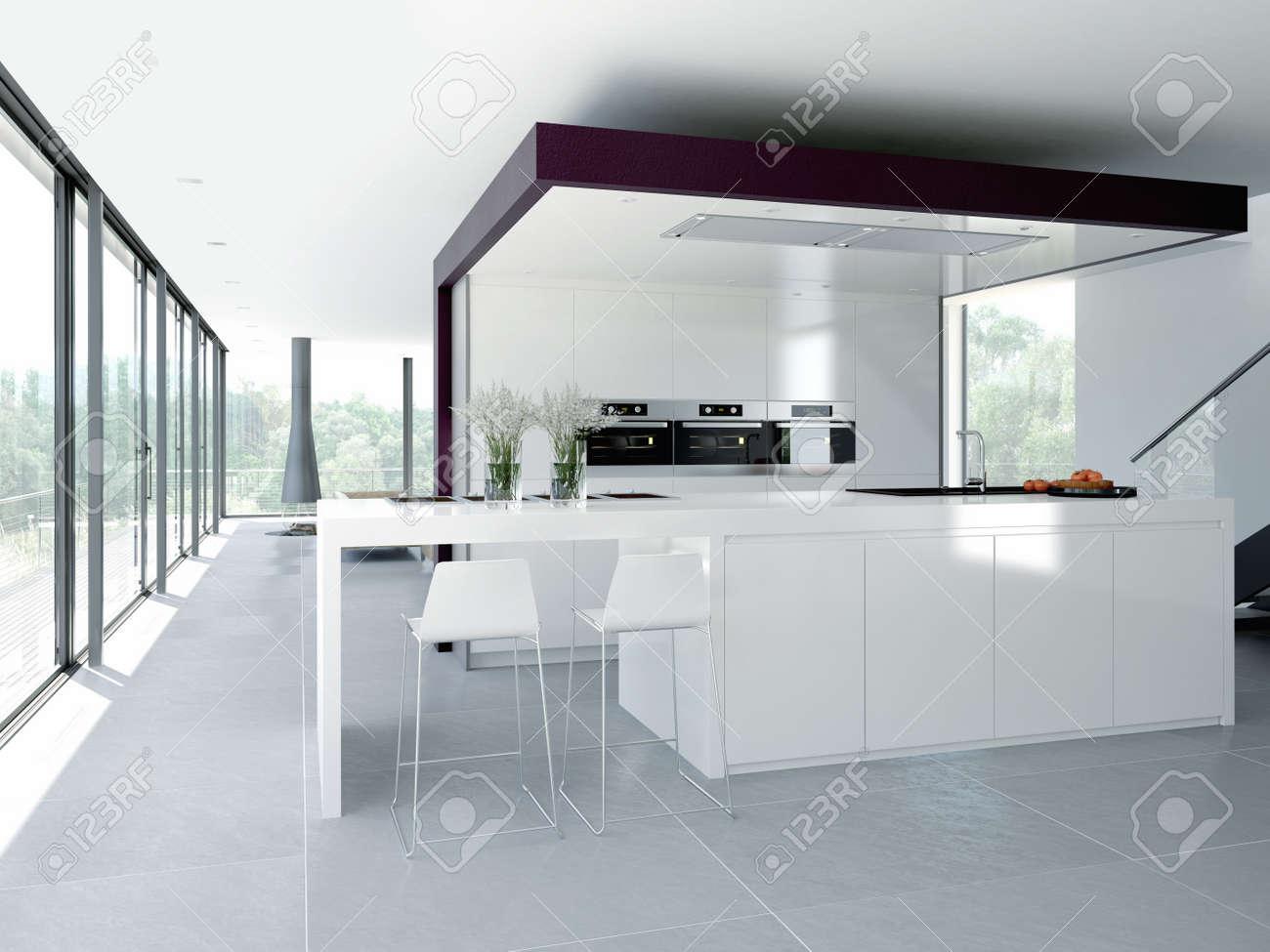 Cocina Moderna Moderna Cocina Con Piso De Madera With Cocina  # Muebles Juigmar