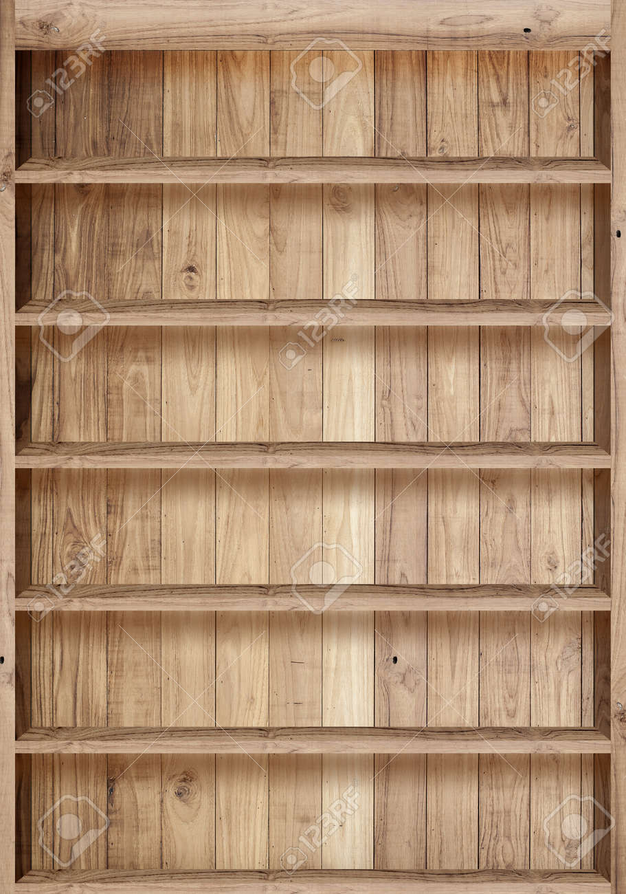stock photo wood bookshelves vintage - Wood Bookshelves