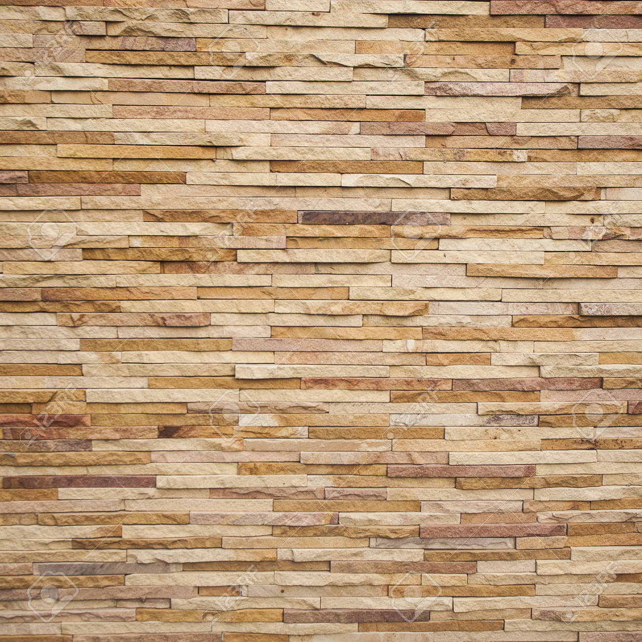 Stone Tile Brick Wall Texture Stock Photo, Picture And Royalty ...