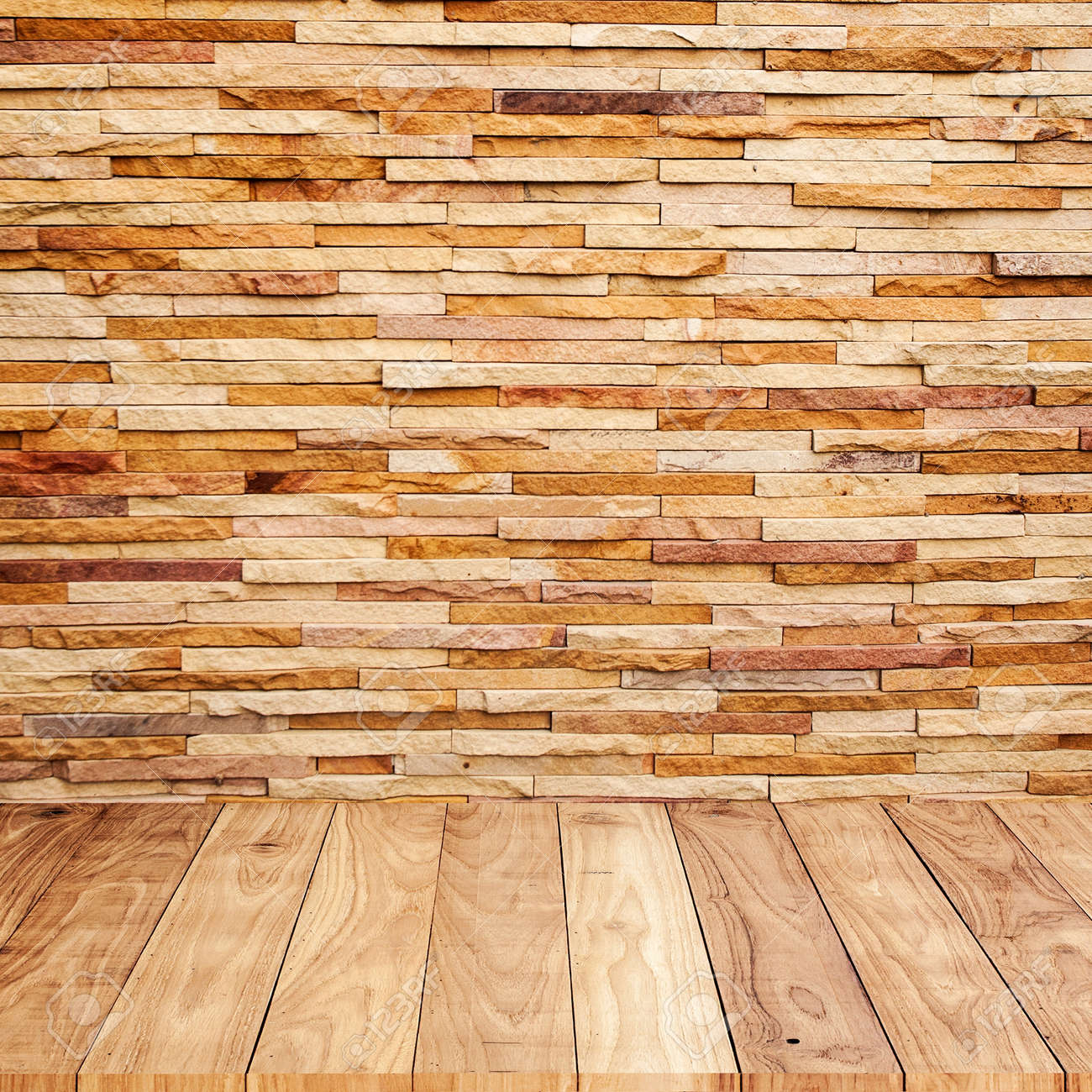 Brick wall with wooden floor background texture Stock Photo - 19726705 - Brick Wall With Wooden Floor Background Texture Stock Photo
