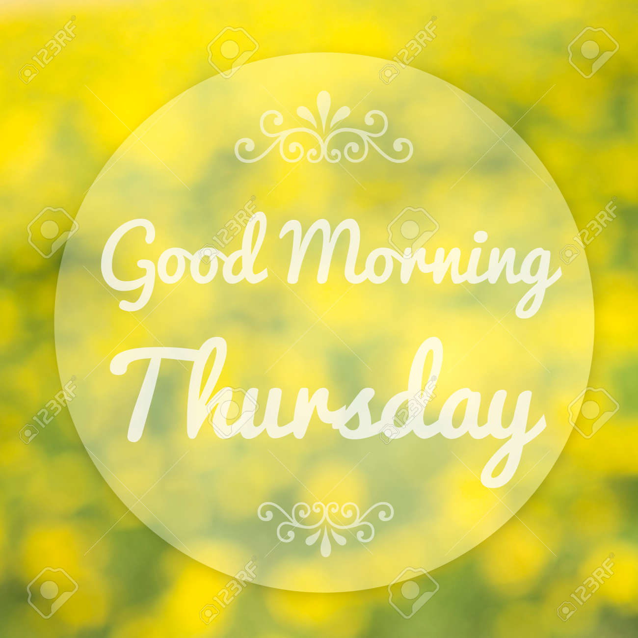 Good Morning Thursday On Blur Background Stock Photo Picture And