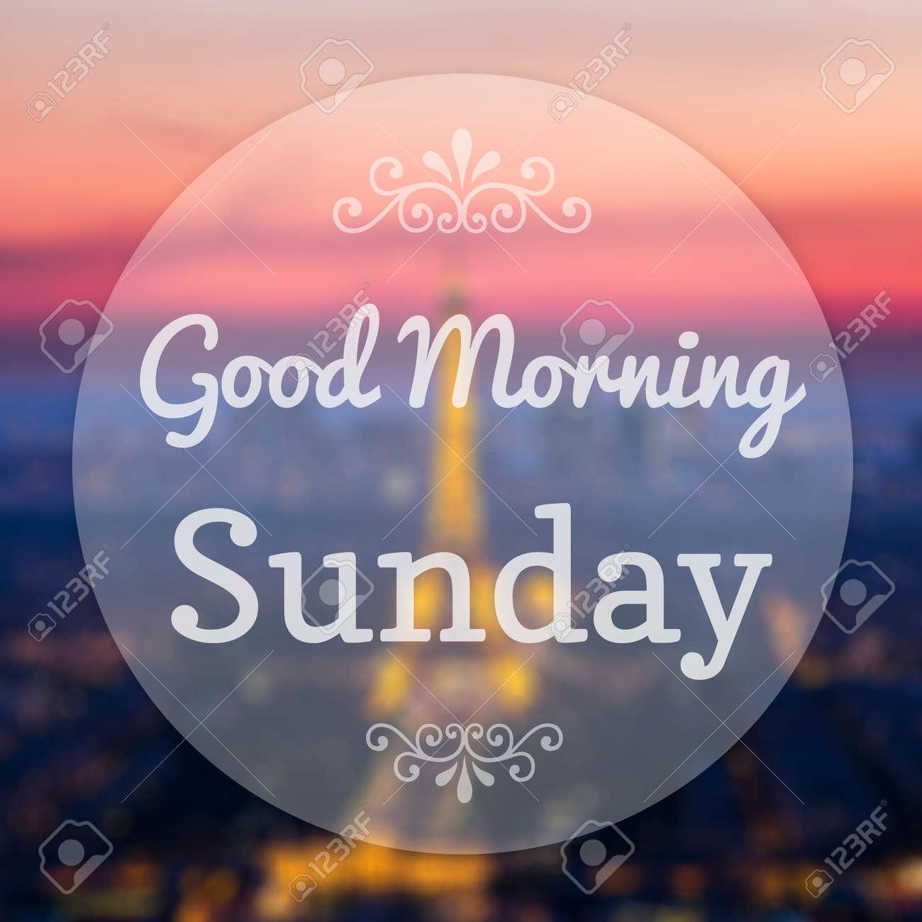 Guten Morgen Sonntag Auf Eiffle Paris Unschärfe Hintergrund