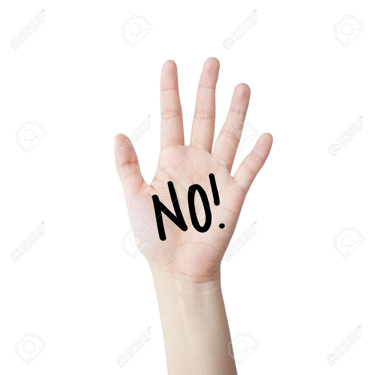 Say no. hand isolated on white background - 32173588