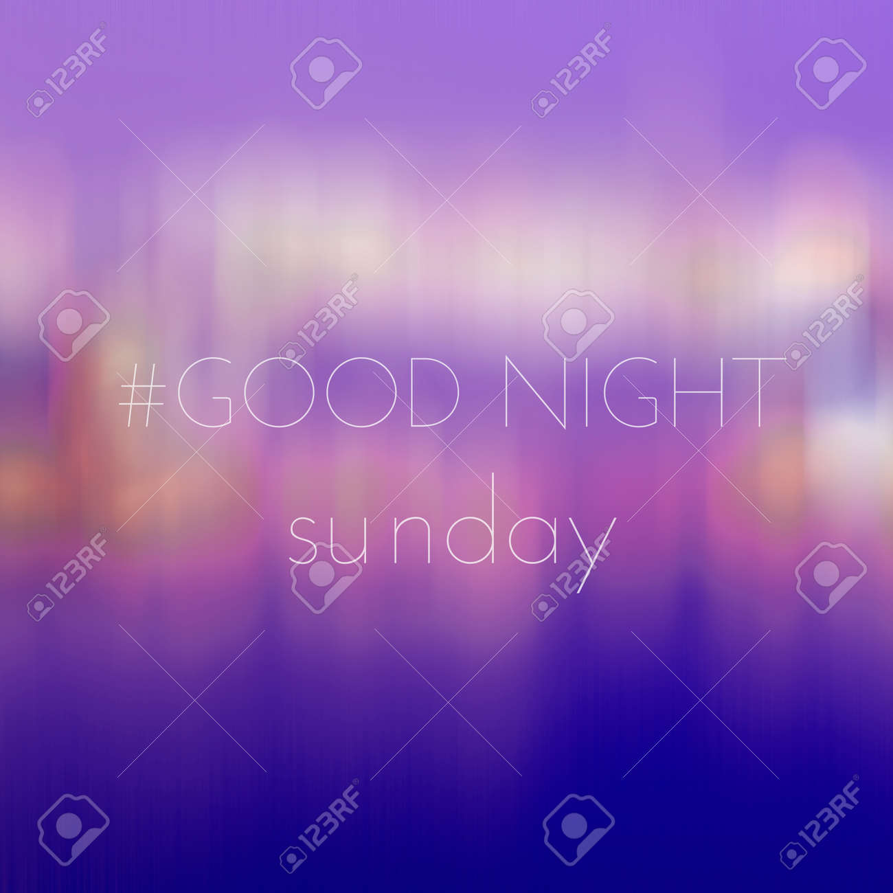 Good Night Sunday On Blur Bokeh Background Stock Photo Picture And