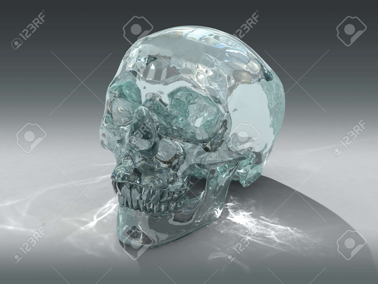 3D model of a human Crystal Skull, claimed to be of pre-Colombian Mesoamerican origin Stock Photo - 6907111