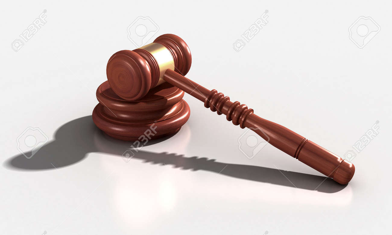 3D Model of wood and metal gavel Stock Photo - 6907116