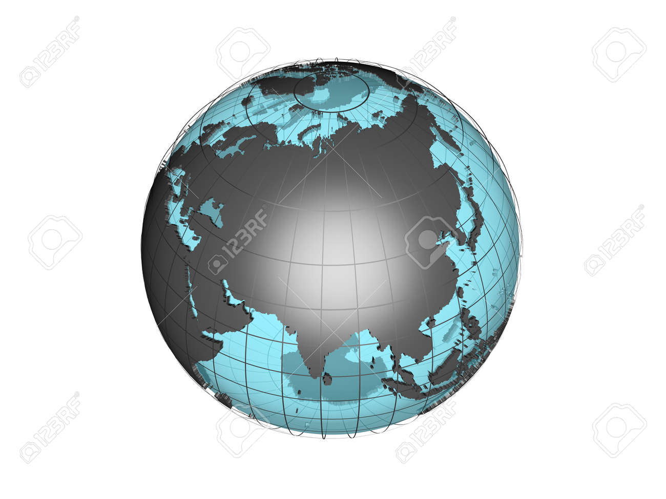 3d model of globe map showing the asian continent stock photo 3d model of globe map showing the asian continent stock photo 8668891 gumiabroncs Choice Image