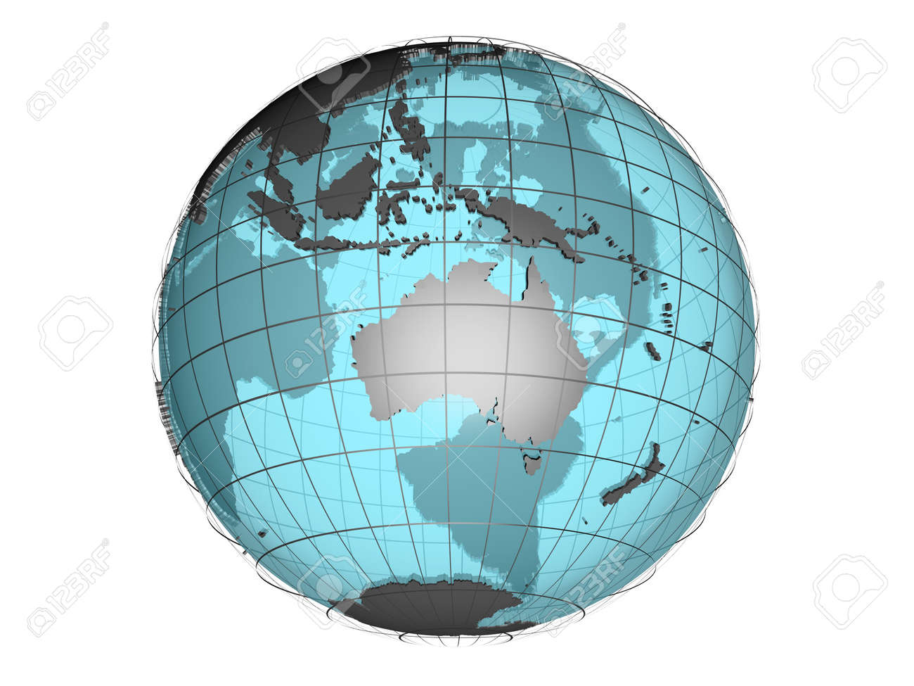 3d model of globe map showing australian and oceania continent stock 3d model of globe map showing australian and oceania continent stock photo 8668907 gumiabroncs Choice Image