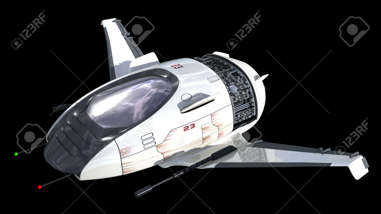 Drone Design Of Alien Spacecraft For Science Fiction Backgrounds