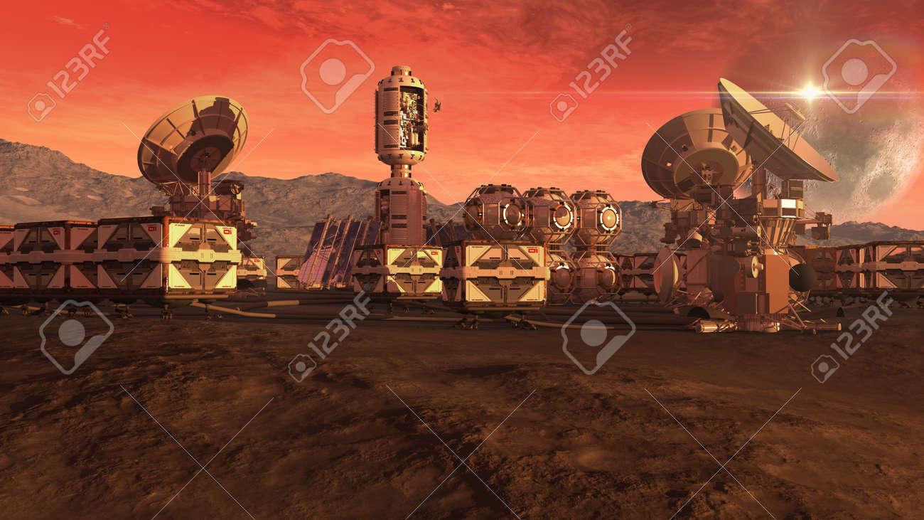 火星に植民地のクレート ポッド...