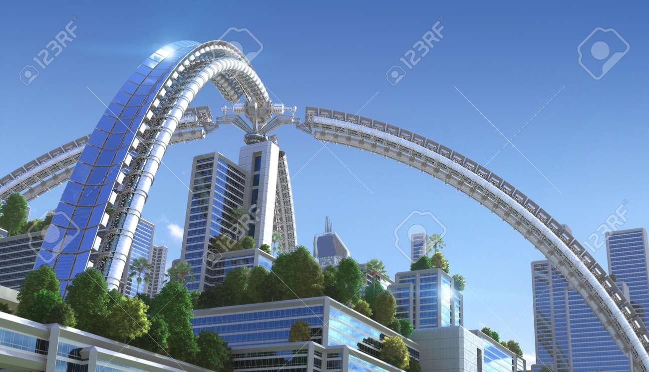 Rendering 3D Di Una Città \