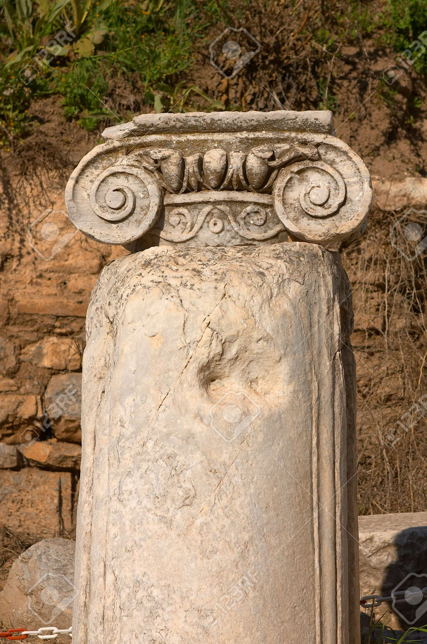 Ancient column in Efes Stock Photo - 1396873